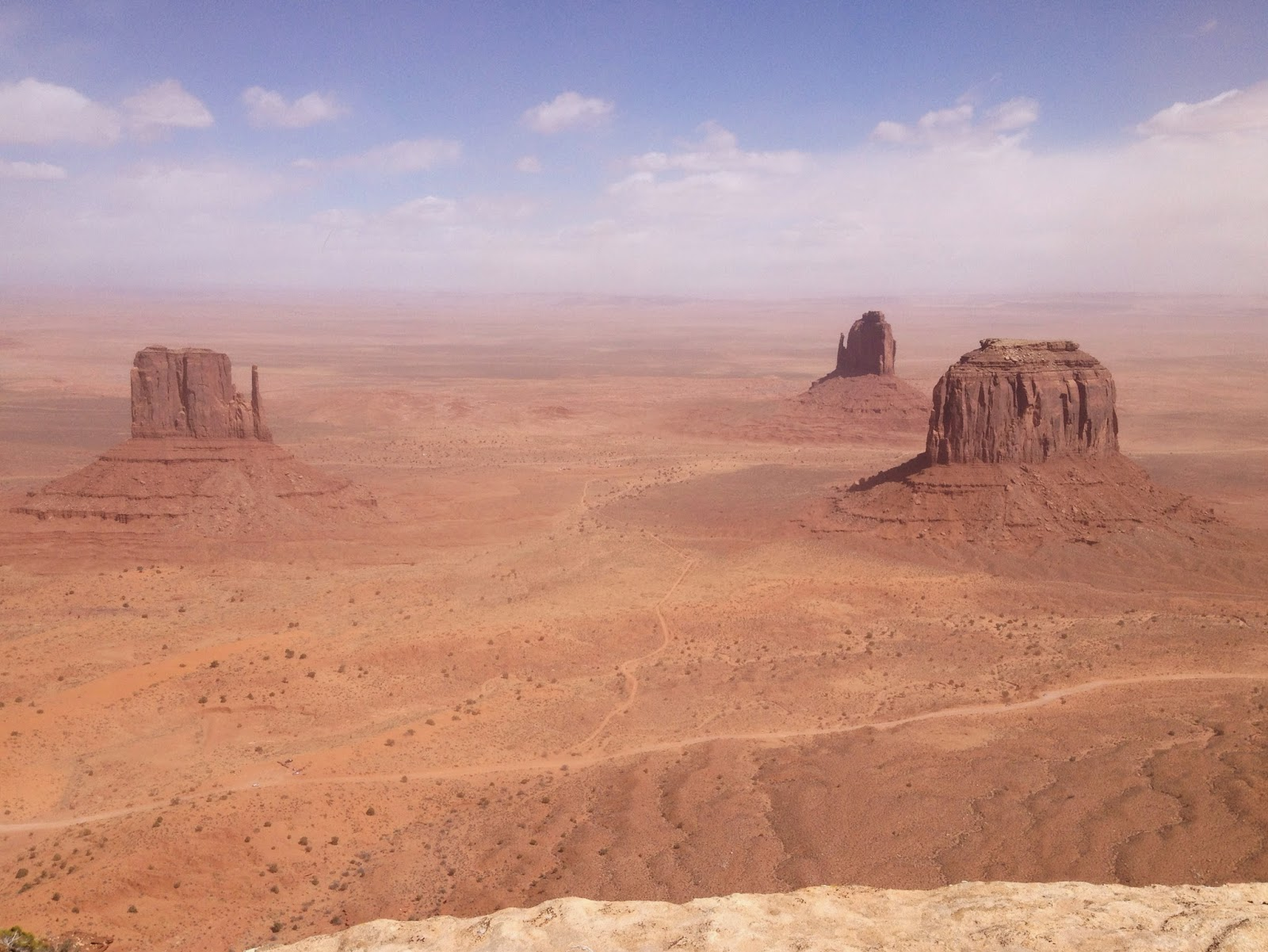 Monument Valley from up high