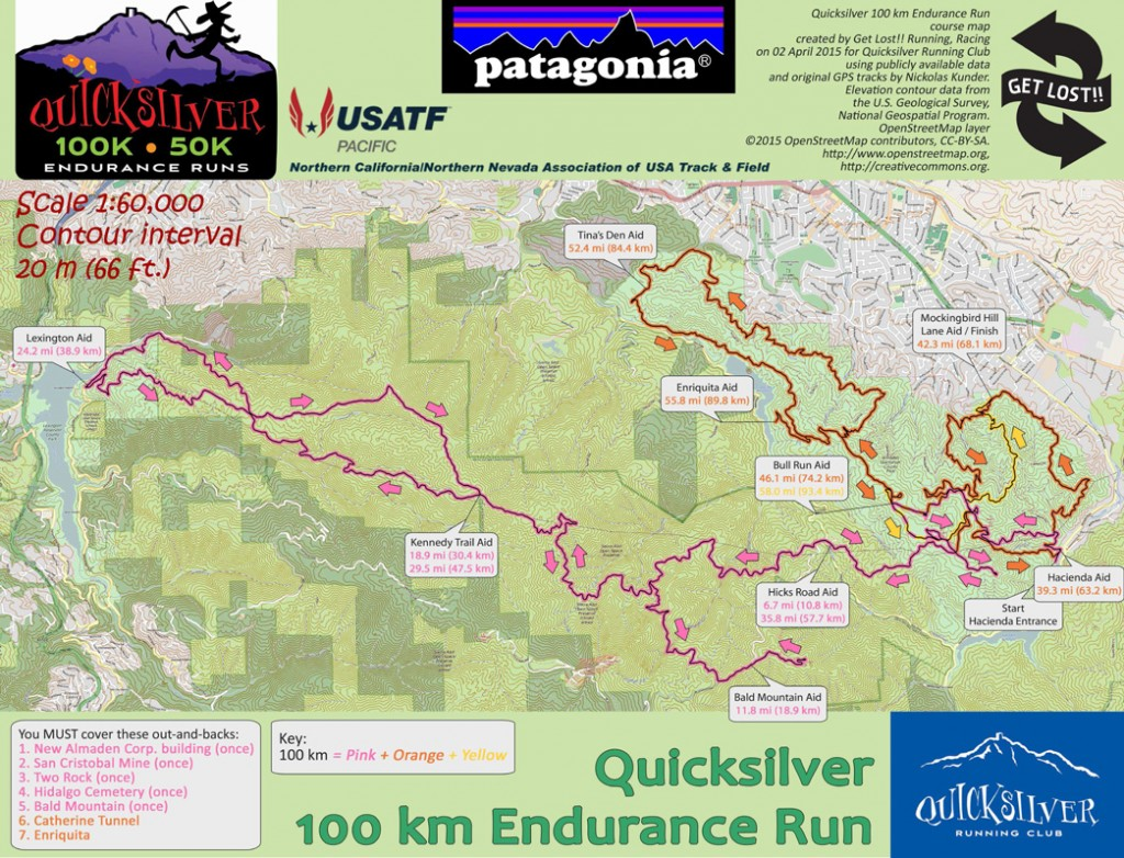 The 100k course map